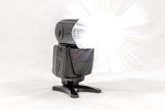 Unbranded external flash unit for DSLR camera Royalty Free Stock Images