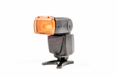 Unbranded external flash unit for DSLR camera Royalty Free Stock Photography