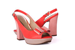 Unbranded new woman shoes. Isolated on white Stock Photography