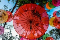 Unbrella chinês que decora Fotos de Stock