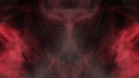 The unbridled flight of vague erotic sexual anatomical fantasies. Clubs and curls of colored smoke, direct and mirror image royalty free illustration
