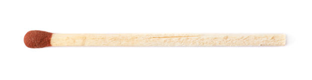 Unburnt изолированная ручка спички Стоковая Фотография