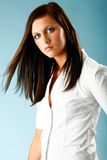 Unbuttoned blouse series Royalty Free Stock Images