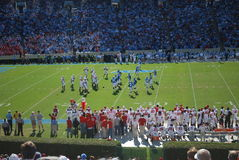UNC Tarheels vs NC State Wolfpack Royalty Free Stock Photography