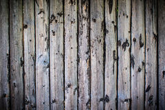 Uncared wooden fence with vignetting Stock Photography