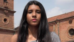 Uncaring Apathetic Teen Girl Stock Photography