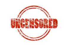 Uncensored red rubber stamp Royalty Free Stock Photography