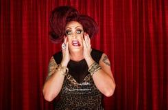 Uncertain Drag Queen stock photography