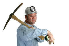 Uncertain Future. A coal miner looking ahead to an uncertain future Stock Images