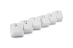 Uncertain future. Fuzzy keyboard FUTURE keys royalty free stock photography