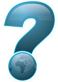Uncertain Future. Earth question mark illustration, where are we heading Stock Photography