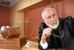 Uncertain judge stock photography