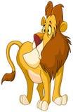 Uncertain lion vector illustration
