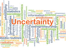 Uncertainty background concept Stock Photos