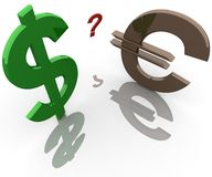 Uncertainty in the currency Royalty Free Stock Photo