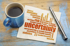 Uncertainty and risk word cloud Royalty Free Stock Image