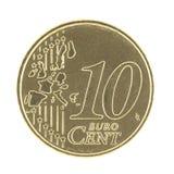 uncirculated的10 eurocent映射新 库存图片