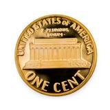 uncirculated совершенное монетки одного цента Стоковые Фото