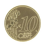 Uncirculated 10 Eurocent new map Stock Image