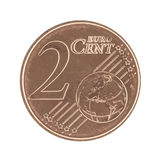 Uncirculated 2 Eurocent Foto de Stock Royalty Free