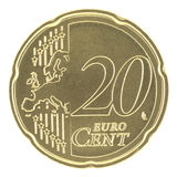 Uncirculated 20 Eurocent new map Royalty Free Stock Image