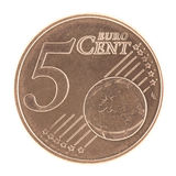 Uncirculated 5 Eurocent Fotografia de Stock Royalty Free