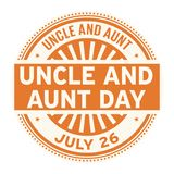 Uncle and Aunt Day, July 26. Rubber stamp, vector Illustration royalty free illustration