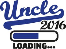Uncle 2016 loading bar. Vector royalty free illustration
