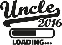 Uncle 2016 loading. Bar vector stock illustration