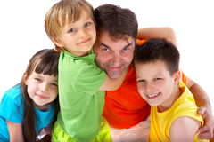 Uncle with nephews and niece Stock Photography