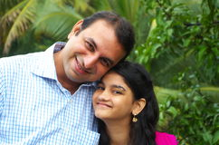 Uncle and niece happy relationship Royalty Free Stock Photos