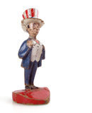 Uncle Sam. Old and battered vintage paper mache Uncle Sam royalty free stock images