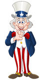 Uncle Sam. Pointing with his finger Royalty Free Stock Image