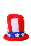 Uncle Sam. An Uncle Sam hat isolated on a white background with copy space royalty free stock photo
