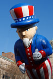 Uncle Sam. Floats down Central Park West during the 2008 Macy's Thanksgiving Day Parade royalty free stock image
