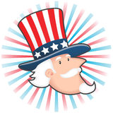 Uncle Sam. Illustration of uncle sam with hat Stock Images