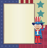 Uncle Sam Banner Royalty Free Stock Photo