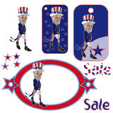 Uncle Sam Cartoon Character Stock Photo