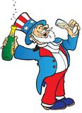 Uncle Sam celebrates Royalty Free Stock Image