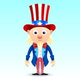 Uncle Sam character Royalty Free Stock Images