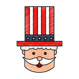 Uncle Sam character icon Royalty Free Stock Image
