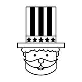 Uncle Sam character icon Royalty Free Stock Photography