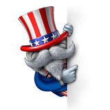 Uncle Sam Character Sign Stock Image