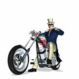 Uncle Sam Chopper 1 Royalty Free Stock Photo