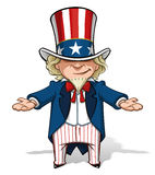 Uncle Sam Debating Royalty Free Stock Images