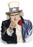 Uncle Sam. Digital painting. Recruitment concept Royalty Free Stock Photos