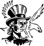 Uncle Sam With Eagle Royalty Free Stock Photo