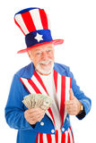 Uncle Sam - Economic Recovery Royalty Free Stock Images