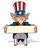 Uncle Sam Ein Zeichen anhalten lizenzfreie abbildung