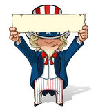 Uncle Sam Einen Anblick halten Lizenzfreie Stockfotografie